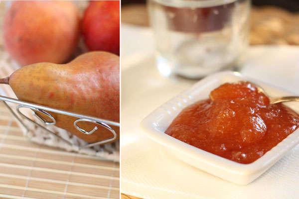 Джем из груш и персиков