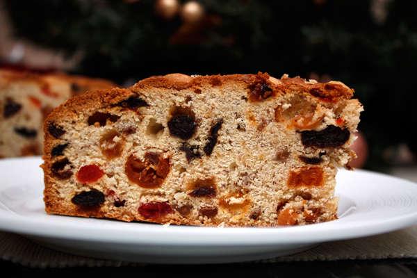 Фруктовый рождественский кекс