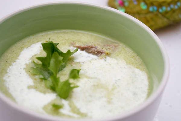 Суп-пюре из брокколи и зеленой фасоли