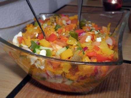Салат из запеченных овощей с морковью