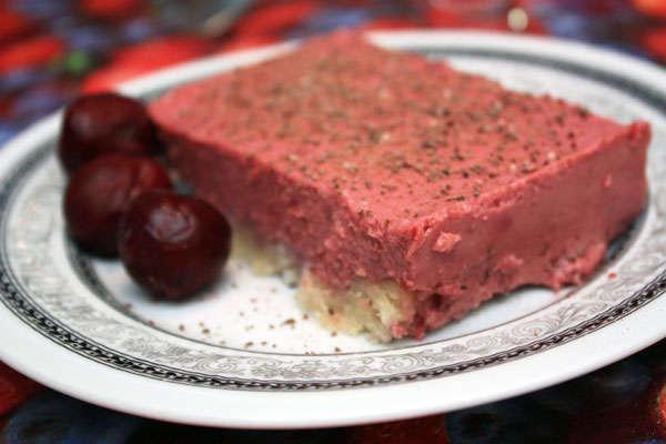 Миндально-ягодный десерт