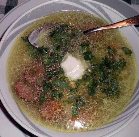 Суп c белой фасолью