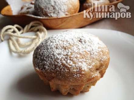 Яблочные кексы с курагой (постные)