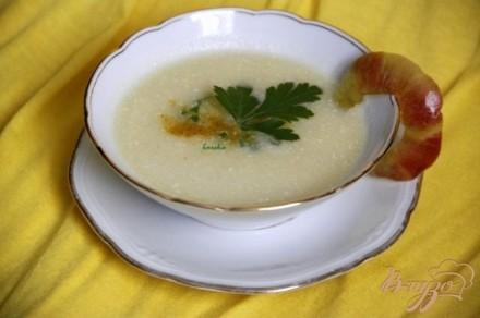 Куриный суп с яблоками и карри