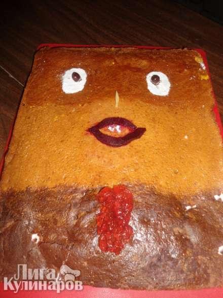 """Торт """"Медовый""""  на ряженке"""