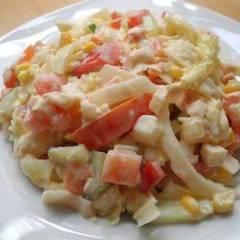 фото рецепта Салат из китайской капусты с крабами