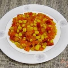 фото рецепта Гарнир из перца и кукурузы