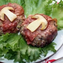 фото рецепта Гамбургер с белыми грибами