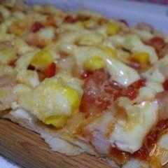 Пицца на слоенном тесте