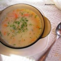 Суп с кроликом и фасолью на молоке