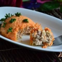 Морковный салат с тунцом и моцареллой