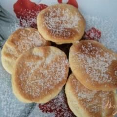 фото рецепта Постное печенье с консервированным ананасом