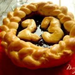 Творожно-черничный пирог на 23е февраля
