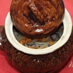Гречка запеченная с свиной печенью в горшочке