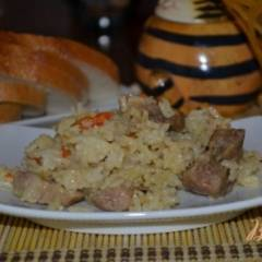 Узбекский плов со свининой в мультиварке
