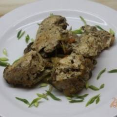 Запеченная курица с овощным рататуем