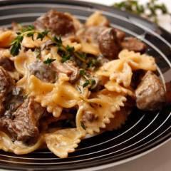 фото рецепта Паста с индейкой и грибами