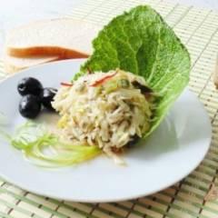 фото рецепта Закуска из сельдерея с зелёным луком.