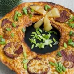Пицца Новогодний веночек