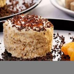 фото рецепта Ароматное абрикосовое пирожное