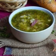 Гороховый суп с белой фасолью
