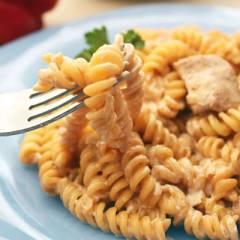 фото рецепта Паста с индейкой в сливочном соусе