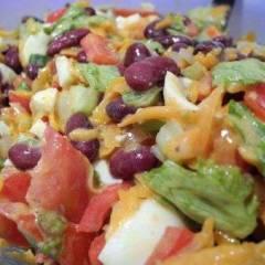 фото рецепта Салат с жареной морковью и фасолью