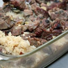 фото рецепта Запеченная баранина с рисом