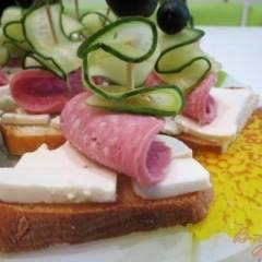 фото рецепта Бутерброды парусники