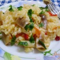 Рисовая каша с фасолью в мультиварке