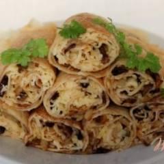 фото рецепта Блины с грибами и сыром