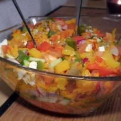 фото рецепта Салат из запеченных овощей с морковью