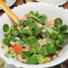 фото рецепта Зеленый салат с авокадо и овощами