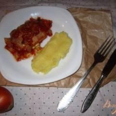 Свиные отбивные в томатном соусе