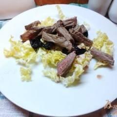 Салат из говядины с черносливом