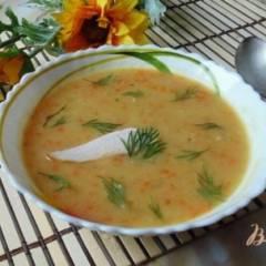Гороховый суп с копченой индейкой