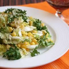 фото рецепта Салат с кукурузой и кунжутом