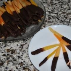 Конфеты из апельсиновых корочек с шоколадом