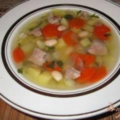 Суп из фасоли со свининой