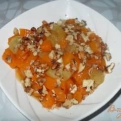 фото рецепта Тыква с яблоками на сковороде