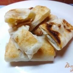 Пирожки жаренные из лаваша с яблоком и орехами