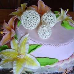 фото рецепта Ажурные шарики из айсинга