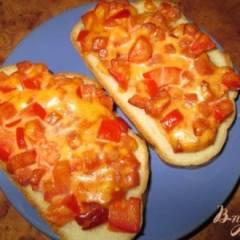 фото рецепта Быстрая пицца на хлебе