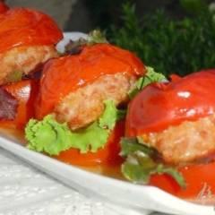 фото рецепта Помидорный гамбургер