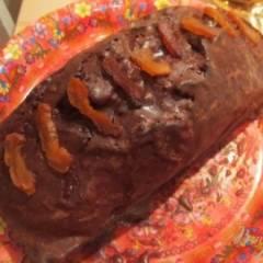 Шоколадный кекс с курагой