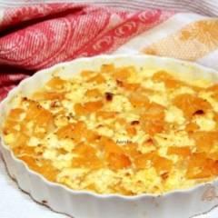 Гарнир из тыквы  и  сыра Фета
