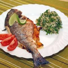 фото рецепта Дорада, фаршированная овощами