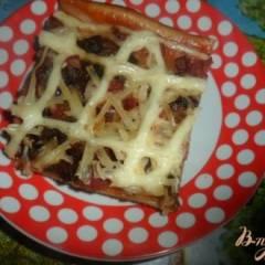 фото рецепта Пицца с салом
