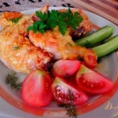 Курица в духовке с сыром