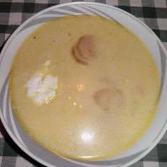 фото рецепта Картофельный суп-пюре с грибами